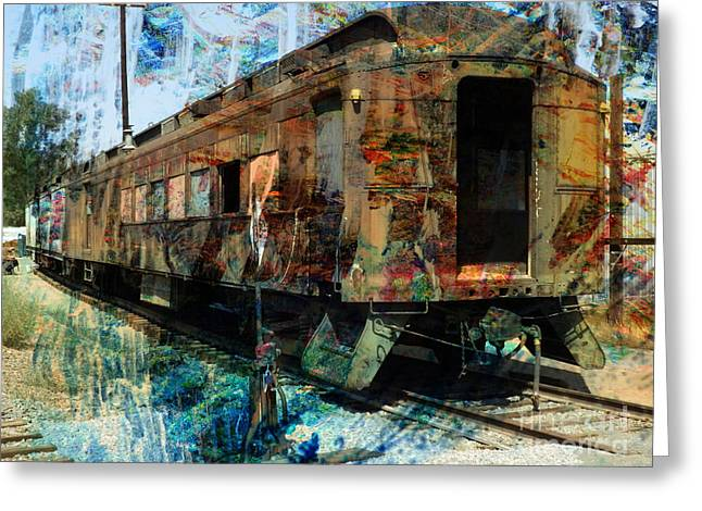 Classic American Railroad Greeting Cards - Train Cars Greeting Card by Robert Ball
