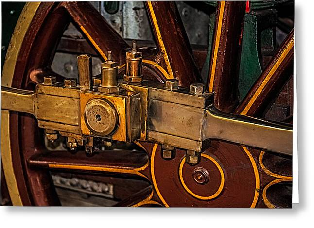 Rich Color Greeting Cards - Train Connecting Rod Greeting Card by Paul Freidlund