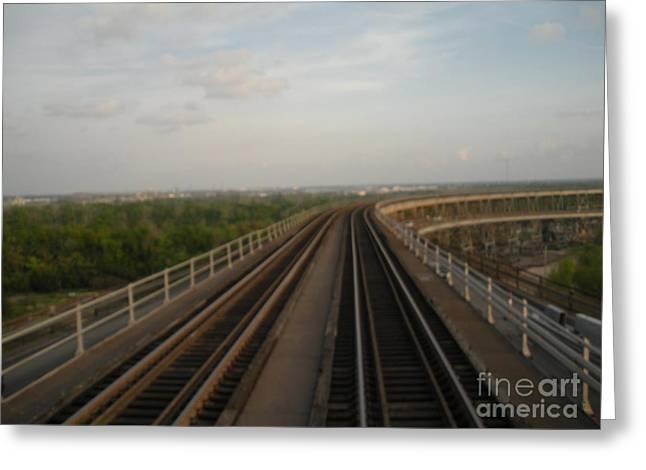 Railroad Tug Greeting Cards - Train Crossing Greeting Card by Joseph Baril