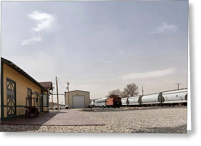 Gigapan Greeting Cards - Train Depot Panorama Greeting Card by Melany Sarafis