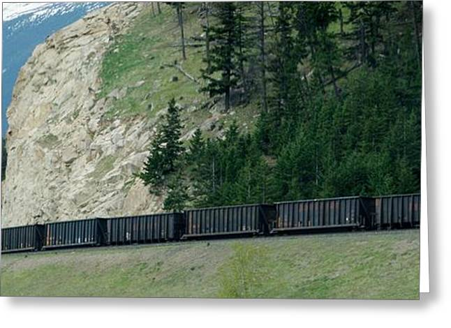 Purchase Greeting Cards - Train heading to Jasper Greeting Card by Gail Matthews