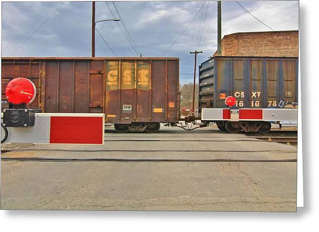 Kim Photographs Greeting Cards - Train Greeting Card by Kim  LaViolette