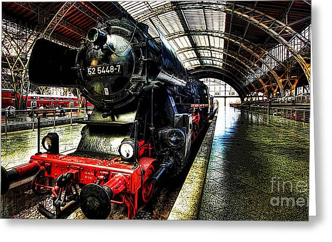 Den Greeting Cards - Train Greeting Card by Marvin Blaine
