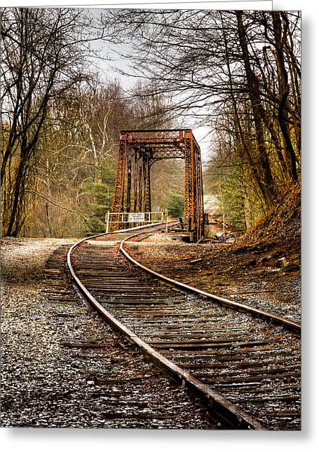 Old Country Roads Greeting Cards - Train Memories Greeting Card by Debra and Dave Vanderlaan