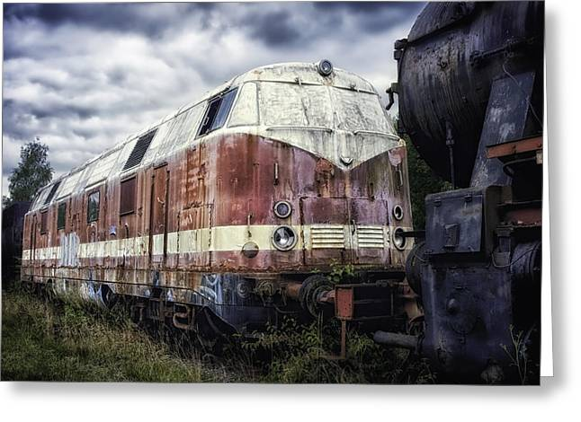 Not In Use Greeting Cards - Train Memories Greeting Card by Mountain Dreams