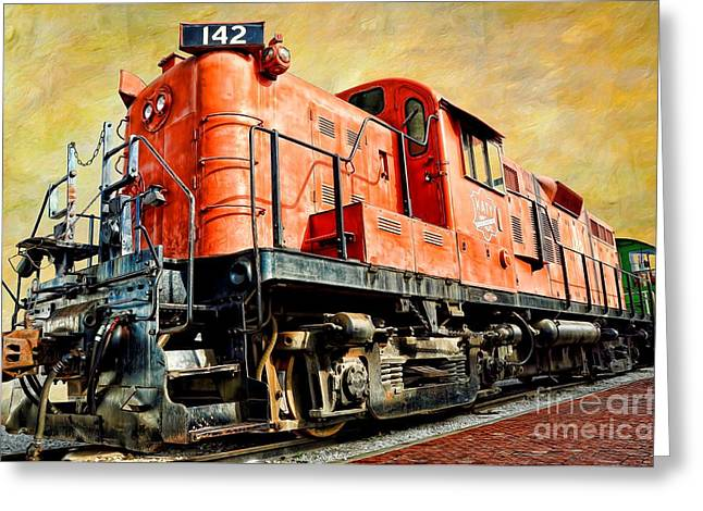 Alco Greeting Cards - TRAIN - MKT 142 - RS3M EMD Repowered ALCO Greeting Card by Liane Wright