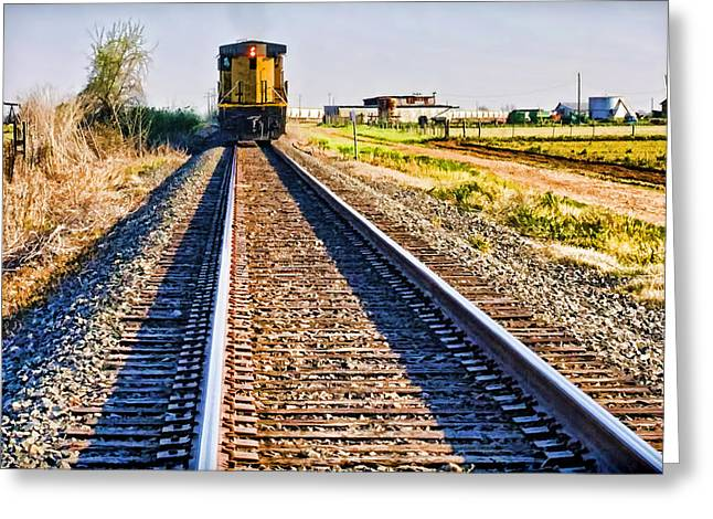 Movement Of Thought Greeting Cards - Train of Thought Greeting Card by Gary Holmes