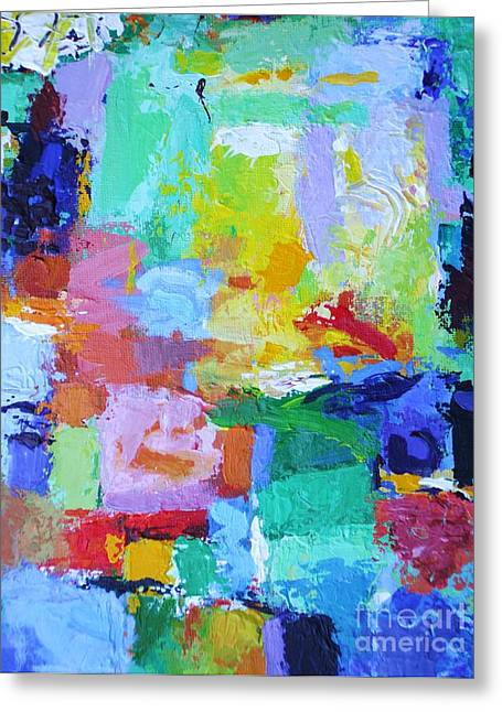 Praise Him For His Mighty Acts - Psalm 150 2 - Abstract Expressionist Painting Greeting Card by Philip Jones