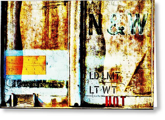 Train Plate 4 Greeting Card by April Lee