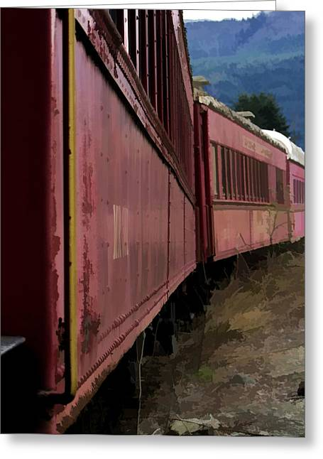 Ron Roberts Photography Greeting Cards Greeting Cards - Train Greeting Card by Ron Roberts