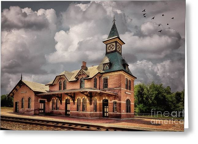 Cupola Greeting Cards - Train Station At Point Of Rocks Greeting Card by Lois Bryan