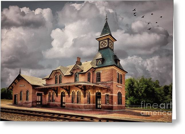 Train Depot Greeting Cards - Train Station At Point Of Rocks Greeting Card by Lois Bryan
