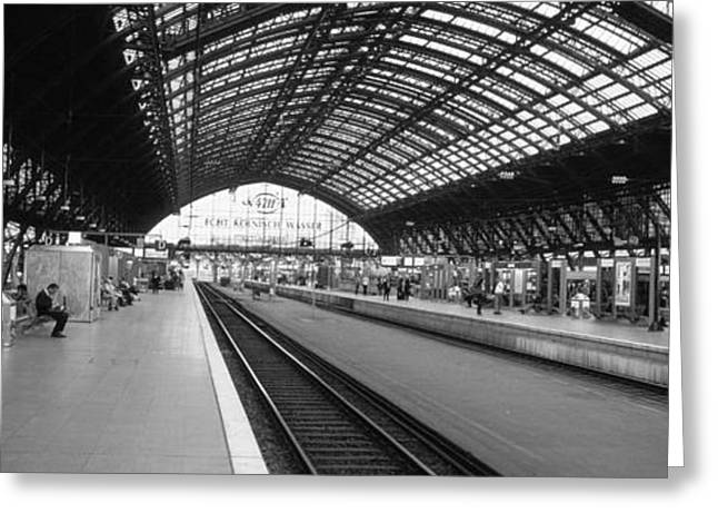Train Photography Greeting Cards - Train Station, Cologne, Germany Greeting Card by Panoramic Images