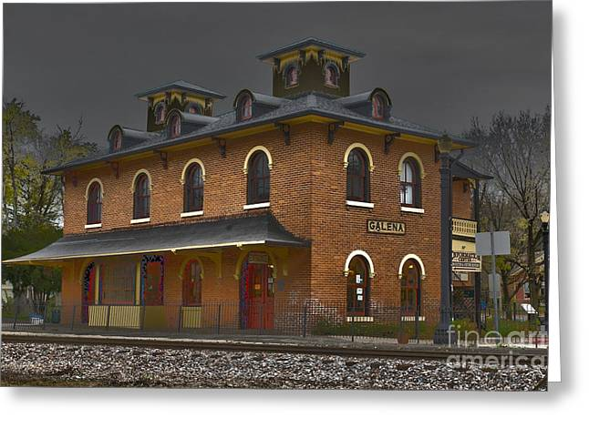 Civil War Site Greeting Cards - Train Stop Greeting Card by Alan Look