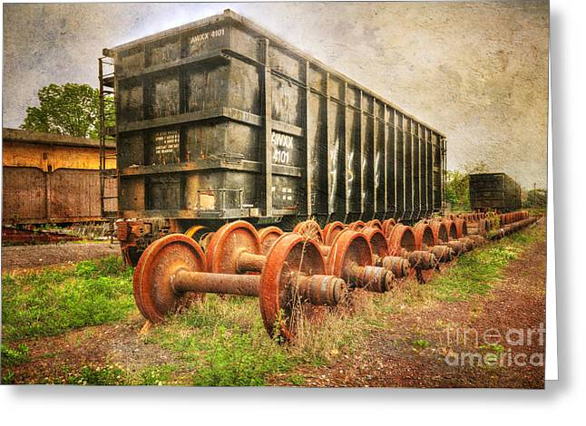 Journeyman Greeting Cards - Train - The Freight Car Greeting Card by Paul Ward