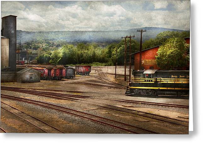 Name Gifts Greeting Cards - Train - The train graveyard Greeting Card by Mike Savad