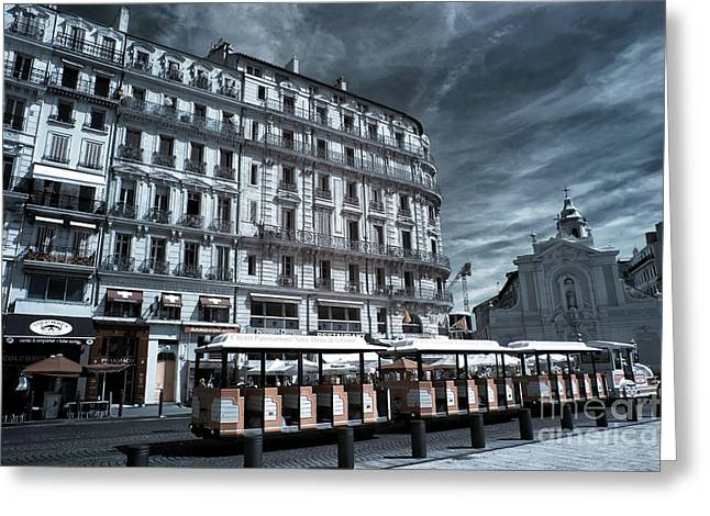D.w Greeting Cards - Train through Marseille Greeting Card by John Rizzuto