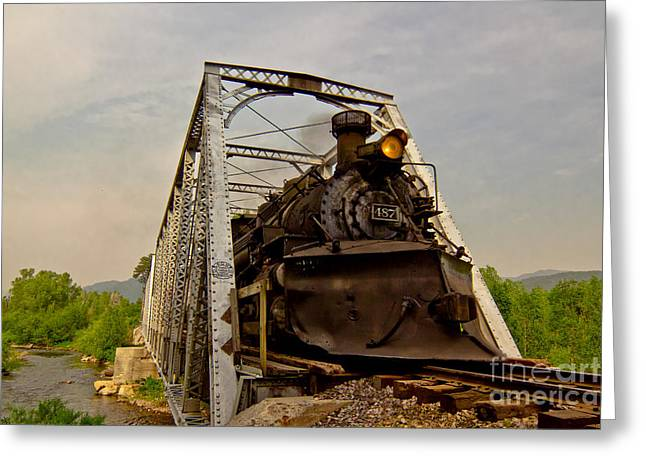 Chama River Greeting Cards - Train To Chama Greeting Card by Robert Frederick