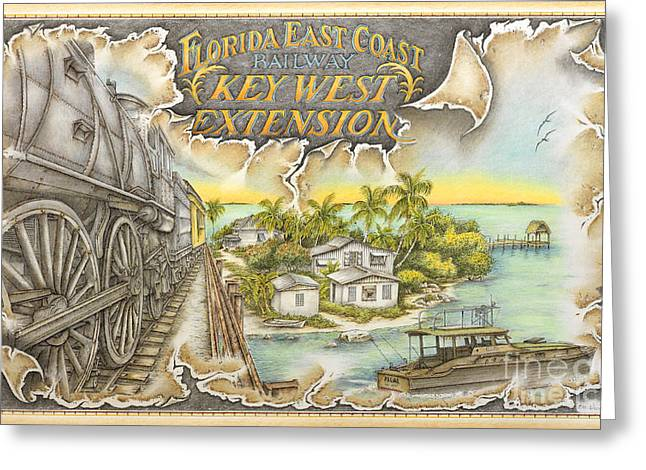Overseas Railway Greeting Cards - Train to Paradise Greeting Card by Mike Williams