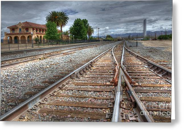 Historical Buildings Greeting Cards - Train Tracks At Kelso Greeting Card by Bob Christopher