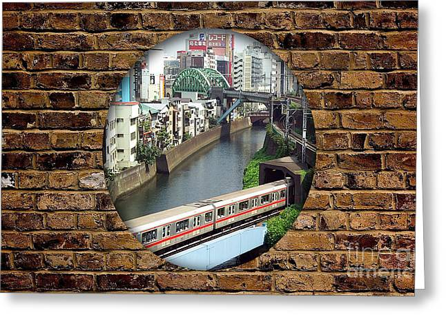 Den Greeting Cards - Train Tunnel Greeting Card by Marvin Blaine