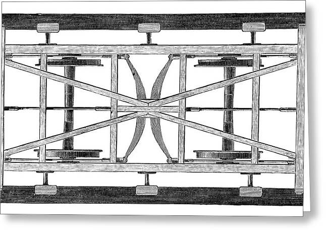 Train Wagon Chassis Greeting Card by Science Photo Library