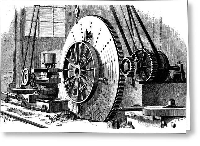 Train Wheel Production Greeting Card by Science Photo Library