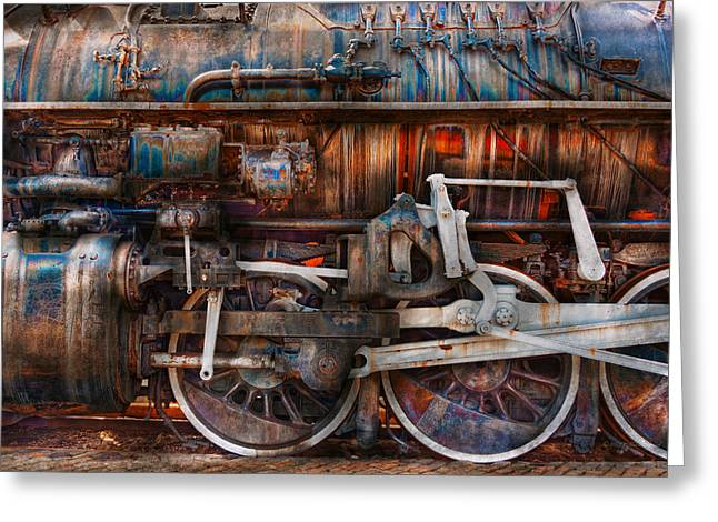 Iridized Greeting Cards - Train - With age comes beauty  Greeting Card by Mike Savad