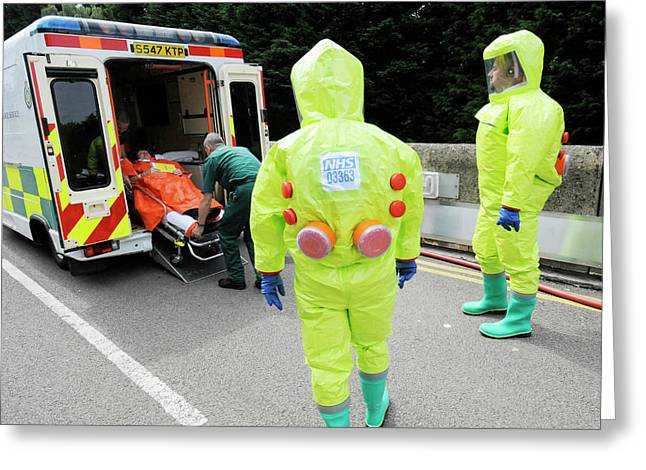 Training Exercise For Major Emergency Greeting Card by Public Health England