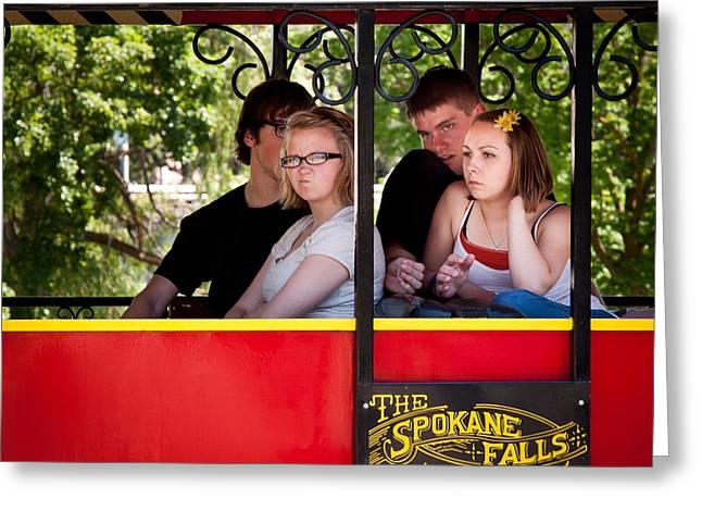 Spokane Greeting Cards - Trains 12 Greeting Card by Niels Nielsen