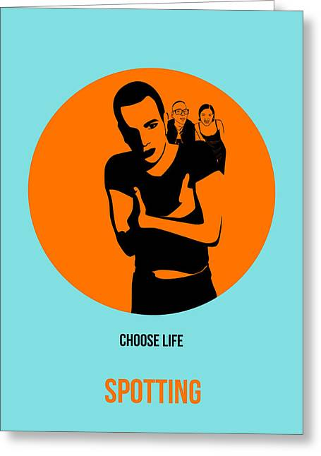 Shows Greeting Cards - Trainspotting Poster 1 Greeting Card by Naxart Studio