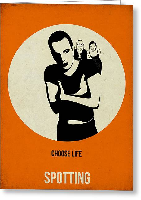 Famous Digital Greeting Cards - Trainspotting Poster Greeting Card by Naxart Studio