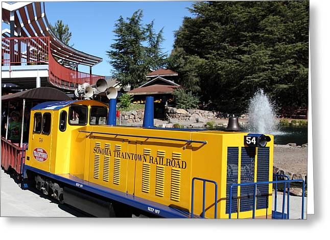 Model Trains Greeting Cards - Traintown Sonoma California 5D19236 square Greeting Card by Wingsdomain Art and Photography