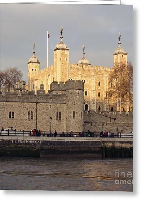 Terri Waters Greeting Cards - Traitors Gate Tower of London Greeting Card by Terri  Waters