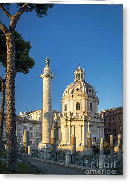 Nome Greeting Cards - Trajans Column - Rome Greeting Card by Brian Jannsen