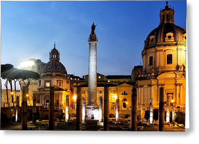 Nome Greeting Cards - Trajans column Greeting Card by Fabrizio Troiani