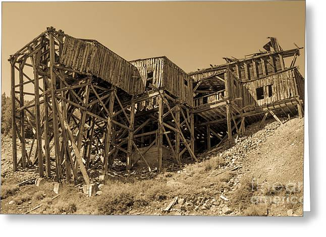White Knob Mountains Greeting Cards - Tramway Headhouse Greeting Card by Robert Bales