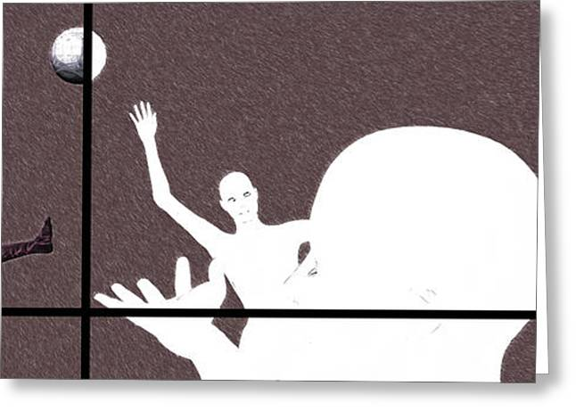 Woman Head Greeting Cards - Trance 14 Greeting Card by Sir Josef  Putsche