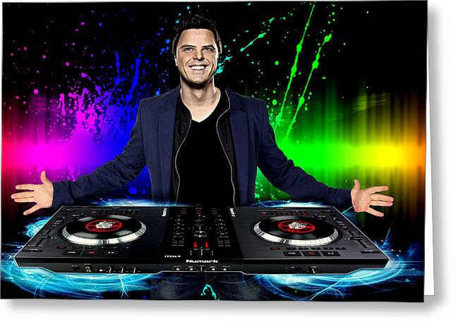 Schulz Greeting Cards - Trance Markus Schulz Greeting Card by Nicole Champion