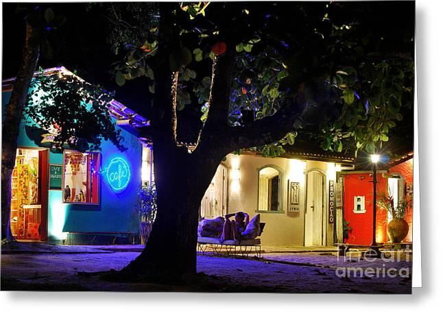 Mulher Greeting Cards - Trancoso - Bahia - by Night Greeting Card by Carlos Alkmin