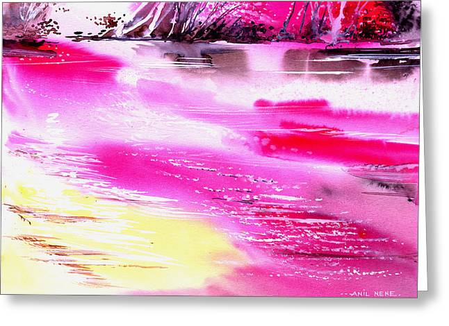 Tranquil 2 Greeting Card by Anil Nene