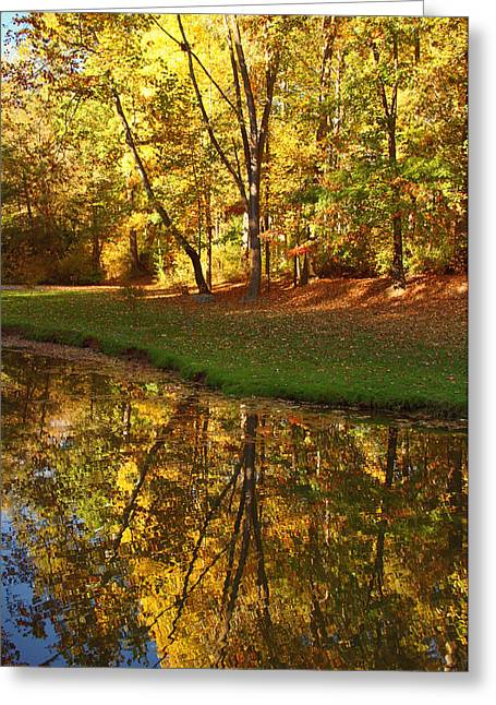 Tranquil Autumn Greeting Card by Kim Hojnacki