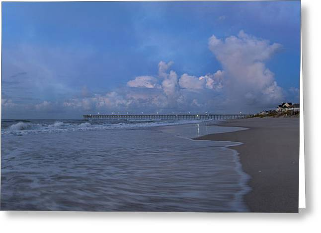 Topsail Island Greeting Cards - Tranquil Blue Morning  Greeting Card by Betsy C  Knapp