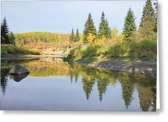 Alberta Greeting Cards - Tranquil Greeting Card by Jim Sauchyn