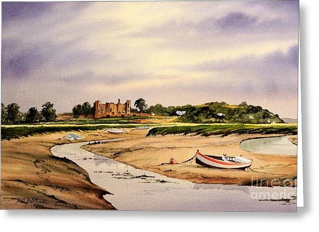 Wales Prints Greeting Cards - Tranquil Laugharne South Wales Greeting Card by Bill Holkham