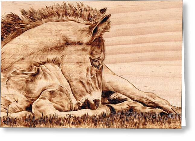 Tranquil Greeting Card by Paper Horses Jacquelynn Adamek