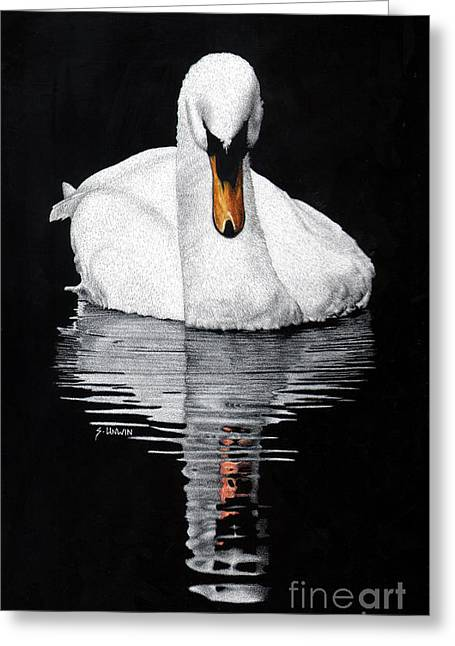 Photo-realism Greeting Cards - Tranquil Reflection Greeting Card by Sheryl Unwin
