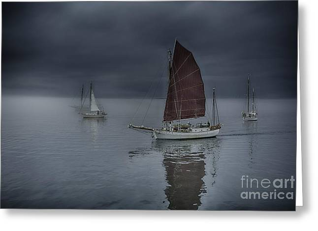 Whidbey Island Wa Greeting Cards - Tranquil Sailing Greeting Card by Whidbey Island Photography
