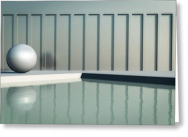 Pool Deck Greeting Cards - Tranquil Seclusion Greeting Card by Richard Rizzo