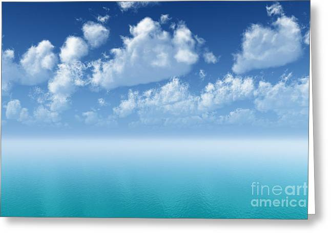 Tranquil Turquoise Ocean Greeting Card by Aleksey Tugolukov